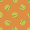 Hamburger Seamless Pattern | Stock Vektrografik