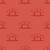 Metall Knuckles Silhouette Seamless Pattern