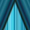 Vektor Cliparts: Azure Textilmuster. Kino Bühne