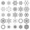 Vektor Cliparts: Runde Geometrische Ornamente Set
