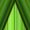 Vektor Cliparts: Kino geschlossen Grün Vorhang