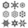 Vektor Cliparts: Rund Geometrische Ornamente