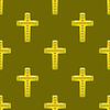 Vektor Cliparts: Goldene Metallkreuz-nahtloses Muster