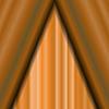 Vektor Cliparts: Kino geschlossen orange Vorhang