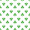 Vektor Cliparts: Grüner Klee nahtlose Muster. Shamrock Hintergrund