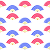Vektor Cliparts: Rot Blau Fan nahtlose Muster