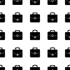 Vektor Cliparts: Tasche Silhouette Seamless Pattern