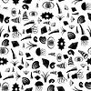 Vektor Cliparts: Shell nahtlose Muster. Quallen Hintergrund