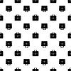 Vektor Cliparts: Tasche Silhouette Seamless Pattern. Aktentasche