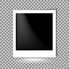 Vektor Cliparts: Fotorahme auf karierten Hintergrund