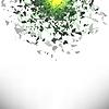 Vektor Cliparts: Explosionswolke Grau Stück fliegen in der Luft