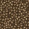 Vektor Cliparts: Set Kaffeetassen Seamless Pattern