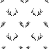 Vektor Cliparts: Verschiedene Hörner Seamless Pattern