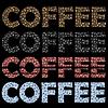 Vektor Cliparts: Set Kaffeetassen Muster. Dekorative Design Text