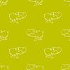 Vektor Cliparts: Hippopotamus Nahtlose Zeichnung Muster