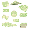 Vektor Cliparts: Amerikanischen Banknoten. Bargeld. US-Währung
