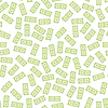 Vektor Cliparts: Satz von Papier Dollar nahtlose Muster. US-Währung