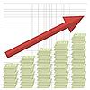 Vektor Cliparts: Das Wachstum von Dollars. Amerikanischen Banknoten. Bargeld