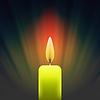 Vektor Cliparts: Brennende Single-gelbe Kerze