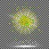 Vektor Cliparts: Explosionswolke Grüne Stück