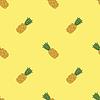Vektor Cliparts: Frische reife Ananas Seamless Pattern