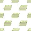 Vektor Cliparts: Satz von Papier-Dollar-nahtloses Muster