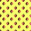 Vektor Cliparts: Frische Erdbeeren Obst nahtlose Muster