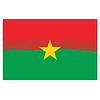 Nationale Burkina Faso-Schmutz-Flagge