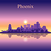 Phoenix Skyline Silhouette Hintergrund