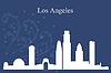 Los Angeles Skyline der Stadt-Silhouette auf blauem