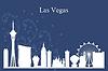Векторный клипарт: Лас-Вегас город небоскребов силуэт на синем фоне