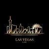 Векторный клипарт: Золотой силуэт Лас-Вегас