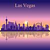 Векторный клипарт: Лас-Вегас горизонта силуэт на фоне заката