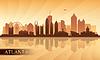 Atlanta Skyline der Stadt Silhouette Hintergrund
