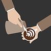Barista Hand mit Tasse