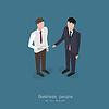 Zwei Business-Mann im Gespräch