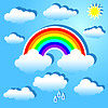 Clouds and rainbow | Stock Vector Graphics