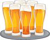 Векторный клипарт: Пиво кубки