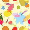 Векторный клипарт: бесшовные узор с разноцветными листьями
