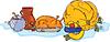 Векторный клипарт: Ужин в честь Дня Благодарения