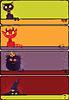 Векторный клипарт: Хэллоуин монстров набор баннеров