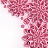 Векторный клипарт: Современные фон с розовыми 3d бумажные цветы