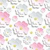 Векторный клипарт: Бесшовные с розовым и белым сакуры