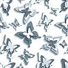 Векторный клипарт: Стильный бесшовные модели с белым - серый