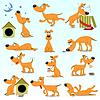 Reihe von lustigen Comic Dogs