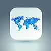 Векторный клипарт: Значок карты для применения на сером фоне