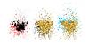 Векторный клипарт: Абстрактный золотой блеск всплеск фон для карты,