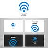 Logo firmy. Okrągłe ikonę dla działalności firmy. | Stock Vector Graphics
