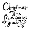 Weihnachtszeit Saison der großen Freude. Schriftzug