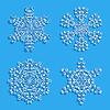Векторный клипарт: Набор декоративных снежинок. Векторная иллюстрация.